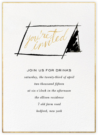 In Tent to Party - kate spade new york - General Entertaining Invitations