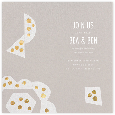 Ardent - Gray - Kelly Wearstler - Kelly Wearstler Invitations