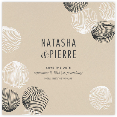 Bauble - Athena - Kelly Wearstler - Modern save the dates