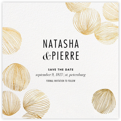 Bauble - White/Gold - Kelly Wearstler - Modern save the dates
