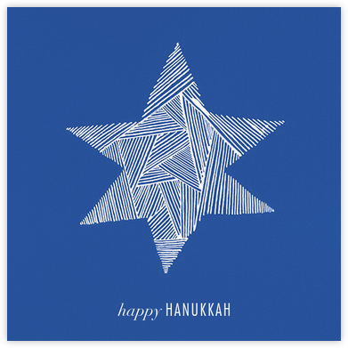 Lumina (Greeting) - Blue/Ivory - Kelly Wearstler - Hanukkah Cards
