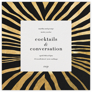 Kharma - Black/Gold - Kelly Wearstler - Kelly Wearstler Invitations