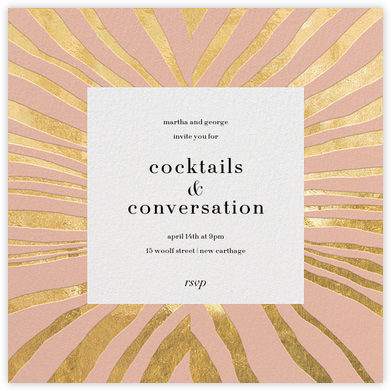Kharma - Pink/Gold - Kelly Wearstler - Kelly Wearstler Invitations