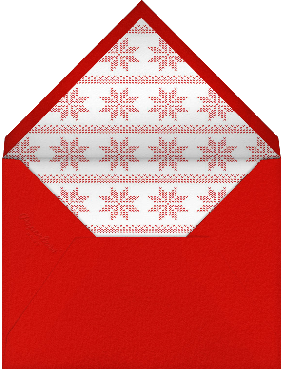 Red (Square) - Paperless Post - Holiday save the dates - envelope back