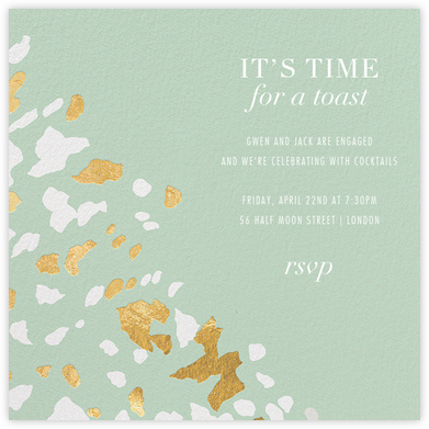 Sphinx - Mint - Kelly Wearstler - Engagement party invitations