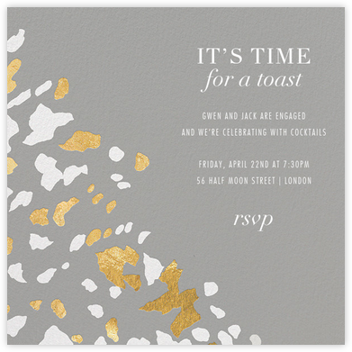 Sphinx - Gray - Kelly Wearstler - Engagement party invitations