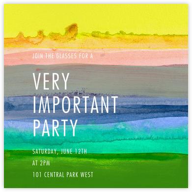 Zephyr - Yellow - Kelly Wearstler - Rainbow Invitations