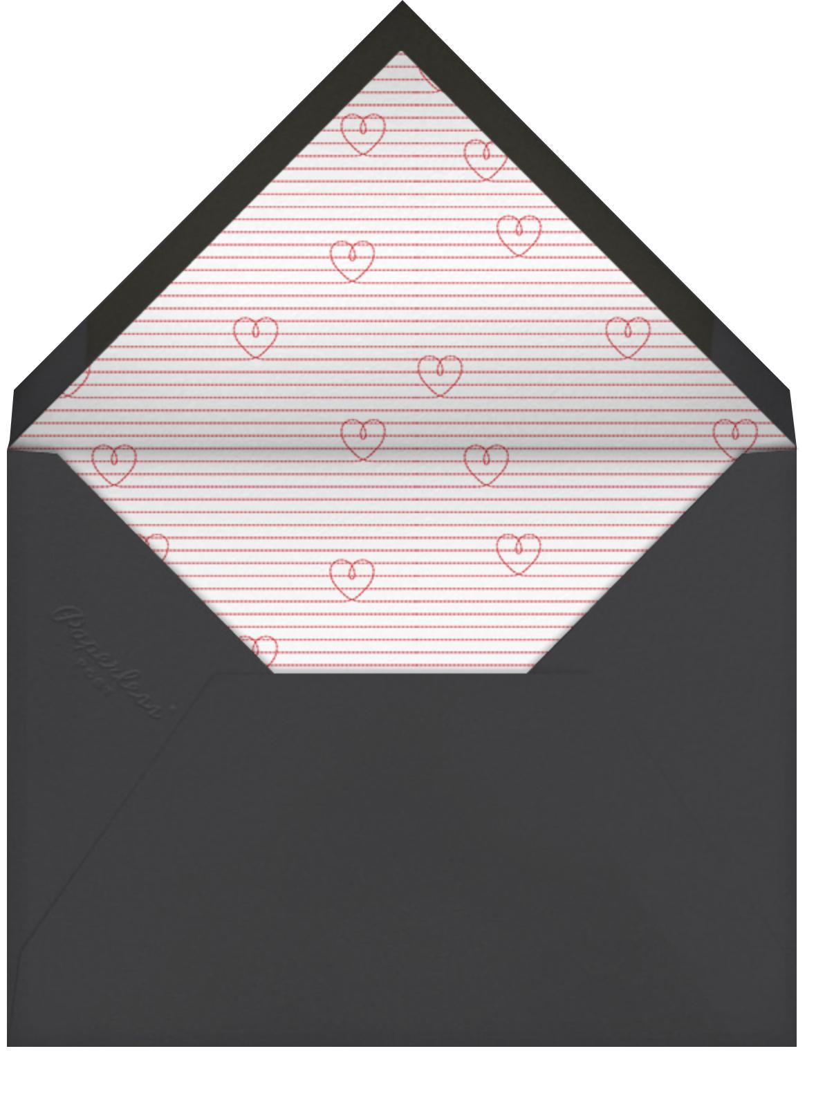 Split Square - Paperless Post - Engagement party - envelope back