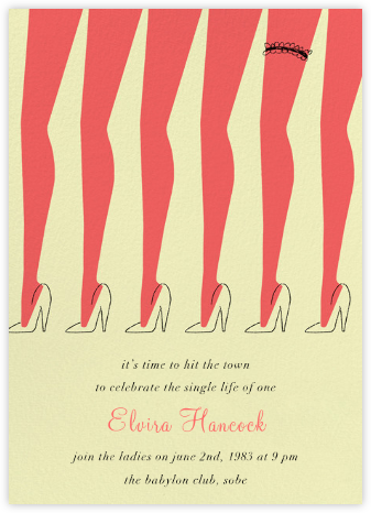 Chorus Line - Paperless Post - Bachelorette party invitations