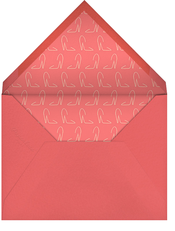Chorus Line - Paperless Post - Bachelorette party - envelope back
