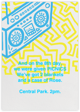 Block Party - Paperless Post - 80s Theme Party Invitations