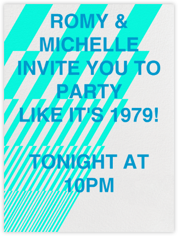 Lightening Decals - Paperless Post - 80s Theme Party Invitations
