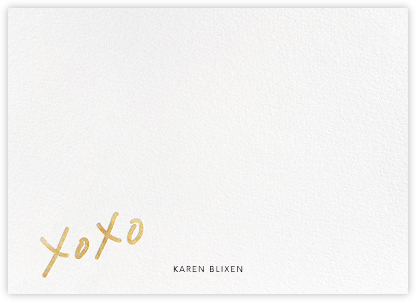 With Hugs and Kisses (Stationery) - Gold - Linda and Harriett - Personalized Stationery
