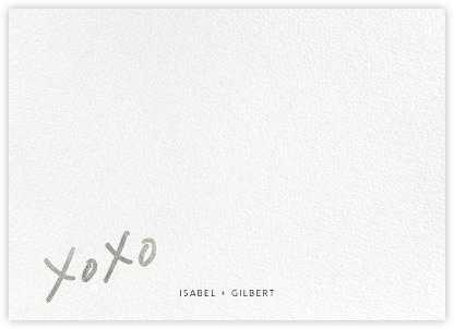 With Hugs and Kisses (Stationery) - Silver - Linda and Harriett - Personalized Stationery