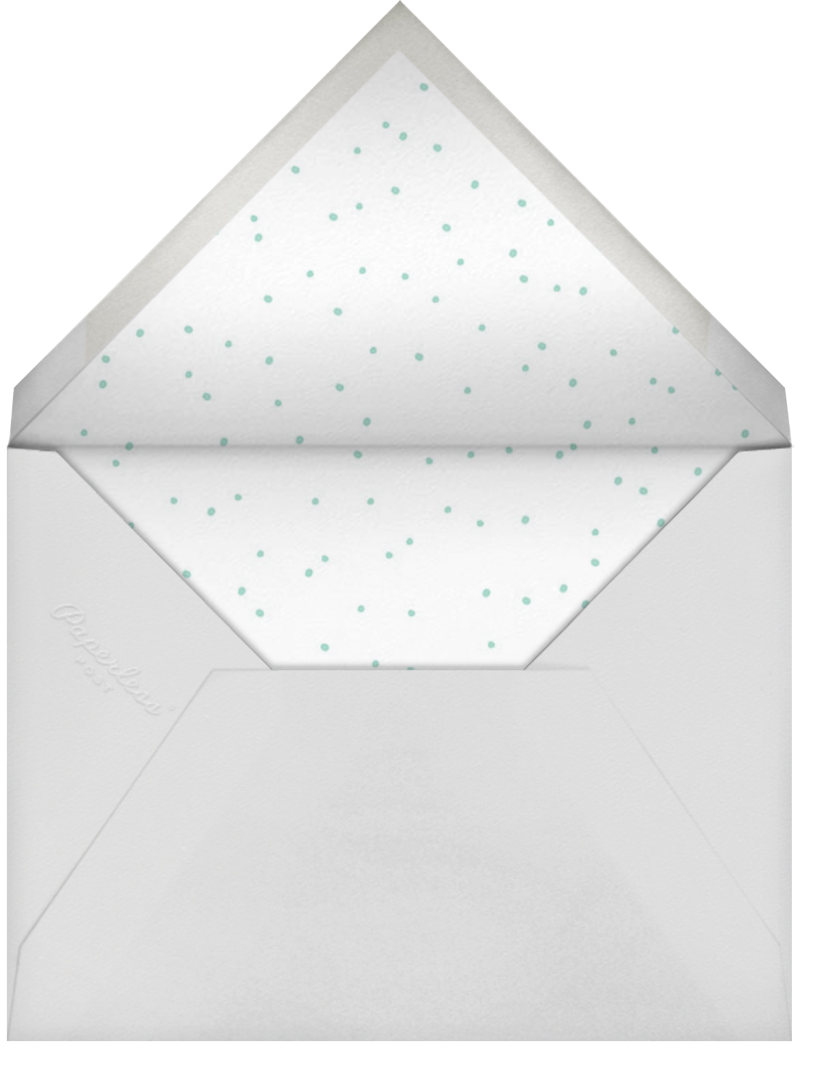 With Hugs and Kisses (Double-Sided) - Silver - Linda and Harriett - Save the date - envelope back
