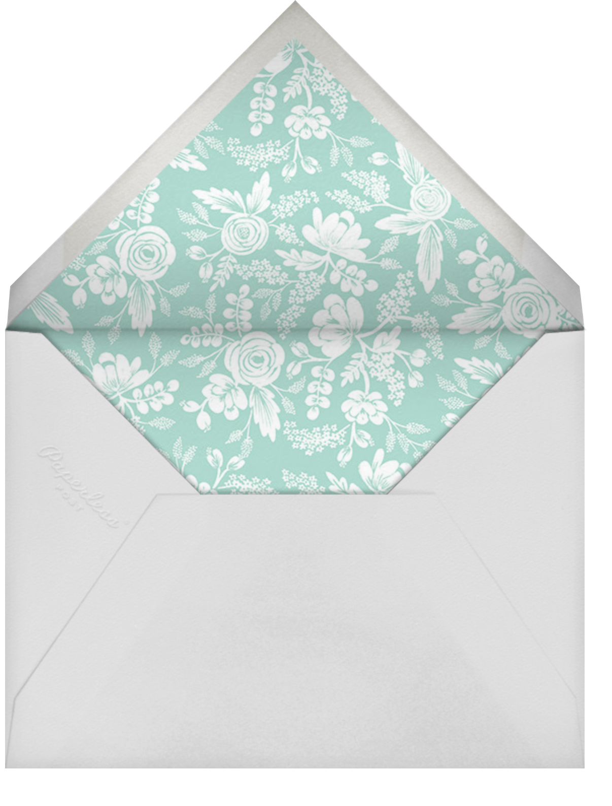 Heather and Lace (Tall Frame) - Silver/Celadon - Rifle Paper Co. - Envelope