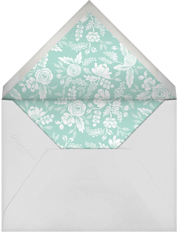 Heather and Lace (Photo Stationery) - Silver/Celadon - Rifle Paper Co. - Wedding stationery - envelope back