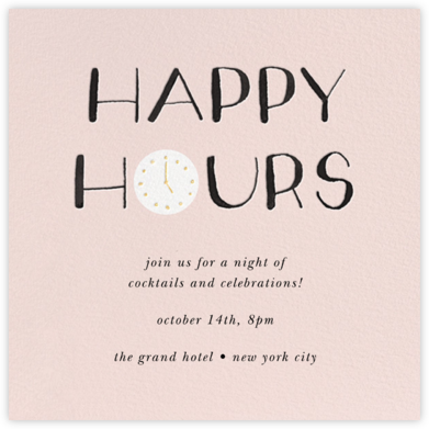 The Happiest Hour - kate spade new york - Business Party Invitations