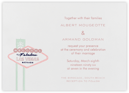 Vegas - Rose and Navy (Welcome Horizontal) - Paperless Post - Destination Wedding Invitations