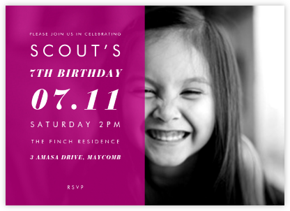 Horizontal Split - Magenta - Paperless Post - Online Kids' Birthday Invitations