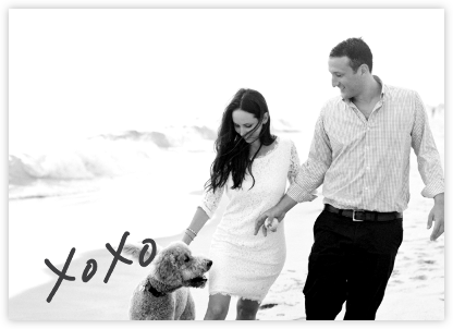 With Hugs and Kisses (Double-Sided) - Slate - Linda and Harriett - Photo save the dates