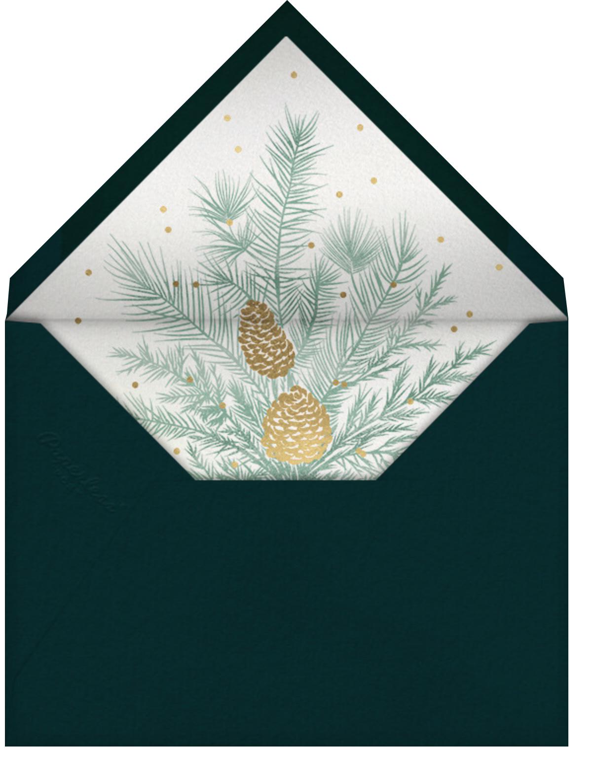 Forsythia - Gold - Paperless Post - General entertaining - envelope back