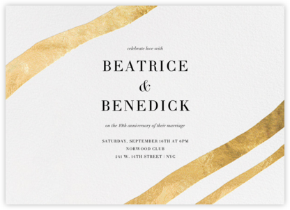 Cherish - Gold - Kelly Wearstler - Celebration invitations