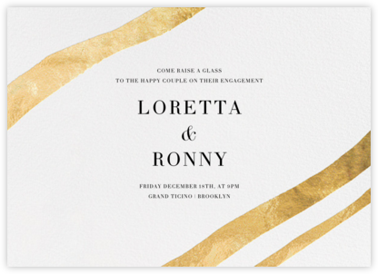 Cherish - Gold - Kelly Wearstler - Engagement party invitations