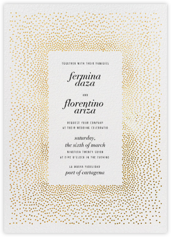 Jubilee II - Gold - Kelly Wearstler - Modern wedding invitations