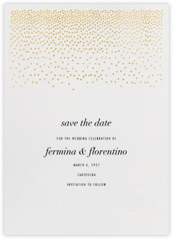 Jubilee II (Save the Date) - Gold - Kelly Wearstler - Modern save the dates