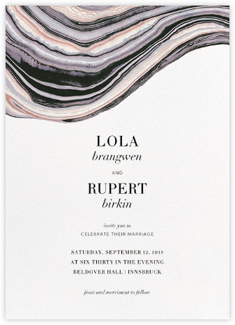 Marbleized (Vertical Invitation) - Kelly Wearstler - Modern wedding invitations