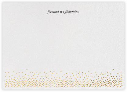 Jubilee II (Stationery) - Gold | horizontal