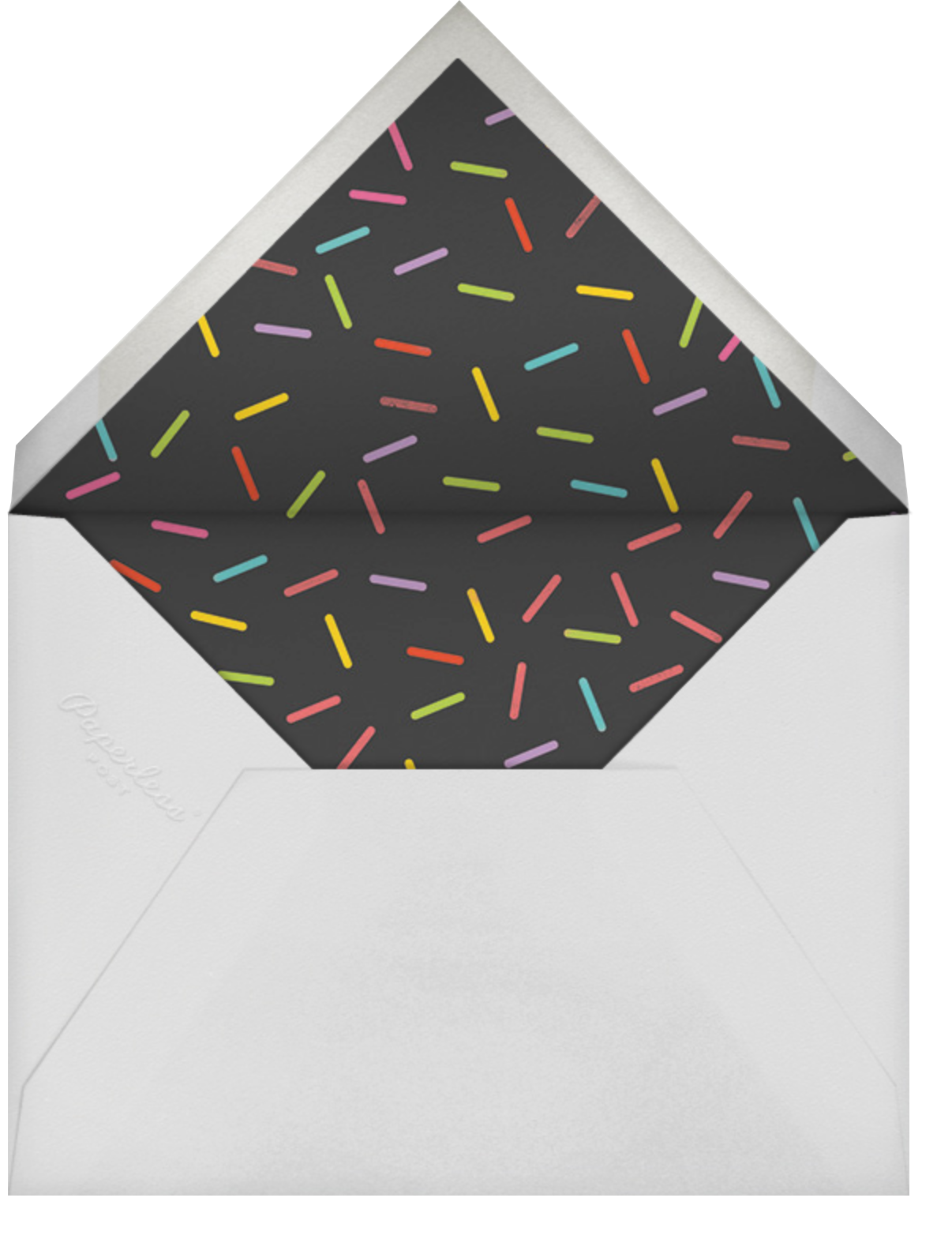 Side Photo Triangle - Paperless Post - Kids' birthday - envelope back