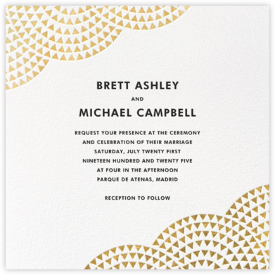 Savoy (Square) - Gold - Paperless Post - Wedding Invitations
