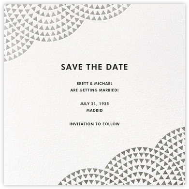 Savoy (Save the Date) - Silver - Paperless Post -
