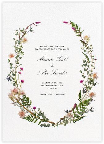 Fleurs Sauvages (Tall Save the Date) - Paperless Post - Destination