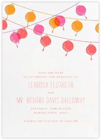 Lanterns (Save the Date) - Sherbert - Paperless Post - Save the dates