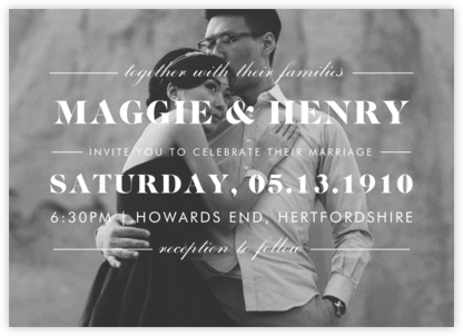 The Occasion (Photo) - Ivory - Paperless Post - Wedding Invitations