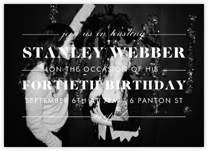 The Occasion (Photo) - Paperless Post - Adult birthday invitations