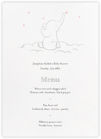 Starry Elephant (Menu) - Pink - Hello!Lucky -