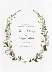 Winter Wilds (Tall Save the Date)