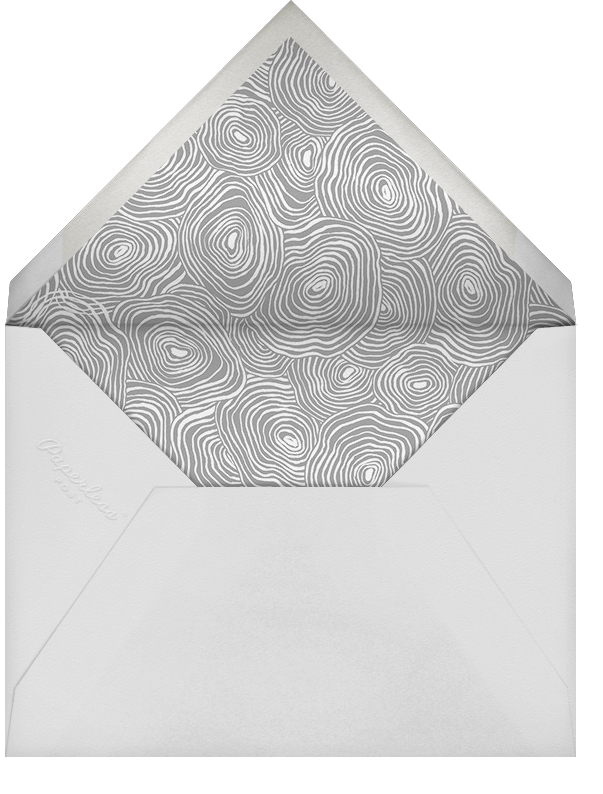 Burlwood II (Tall Save the Date) - Silver - Paperless Post - Party save the dates - envelope back