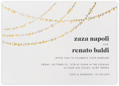 Streamer Shapes (Invitation) - Metallic - Paperless Post - Wedding Invitations