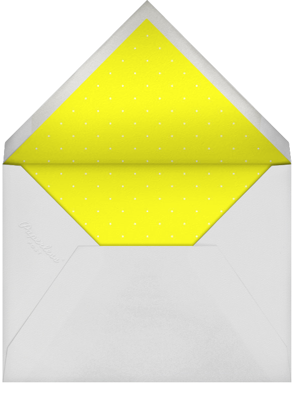 It's Time To Celebrate - Yellow - Paperless Post - 90s theme party invitations - envelope back