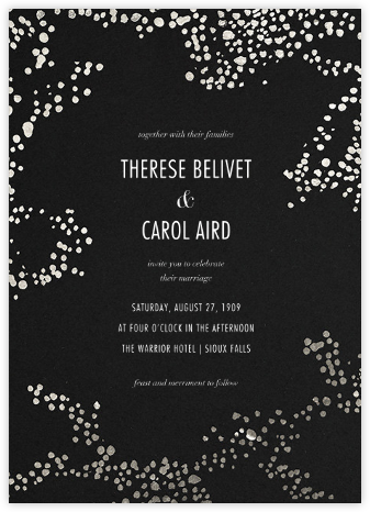 Evoke (Invitation) - Black/Silver - Kelly Wearstler - Wedding Invitations