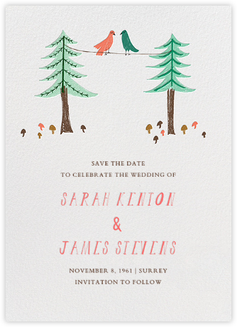 Love Birds On A Wire - Mr. Boddington's Studio - Save the dates
