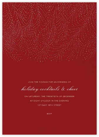 Underwood - Crimson/Silver - Paperless Post - Holiday party invitations