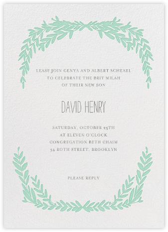 Laurel in Love - Sea Green - Mr. Boddington's Studio - Bris and baby naming invitations