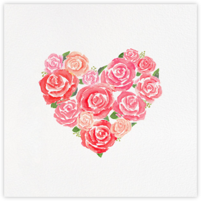 Heart in Bloom - Paperless Post - Valentine's Day Cards