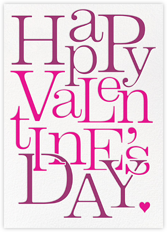 Valentine Jumble - Paperless Post - Valentine's Day Cards